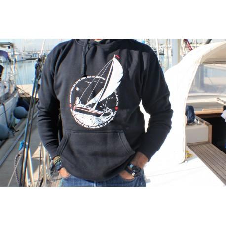 Sudadera con capucha Mejor un mal día en el mar que un buen día en la oficina
